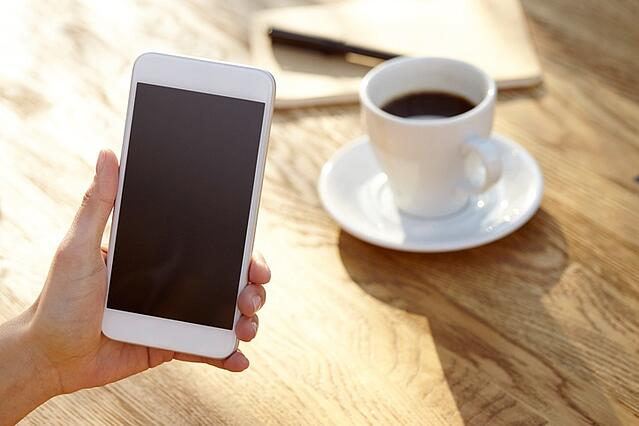 Cell phone & coffee