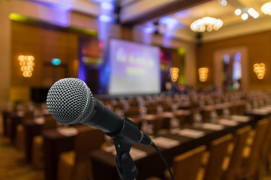 Microphone-at-Venue
